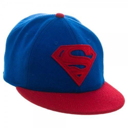 Superman Wool Flat Bill Strapback