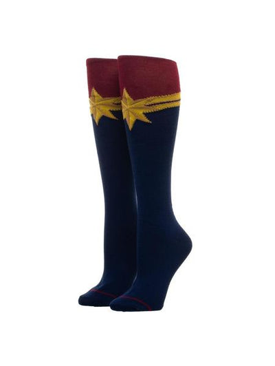 Marvel Comics - Captain Marvel Kneehigh Suit-up Socks