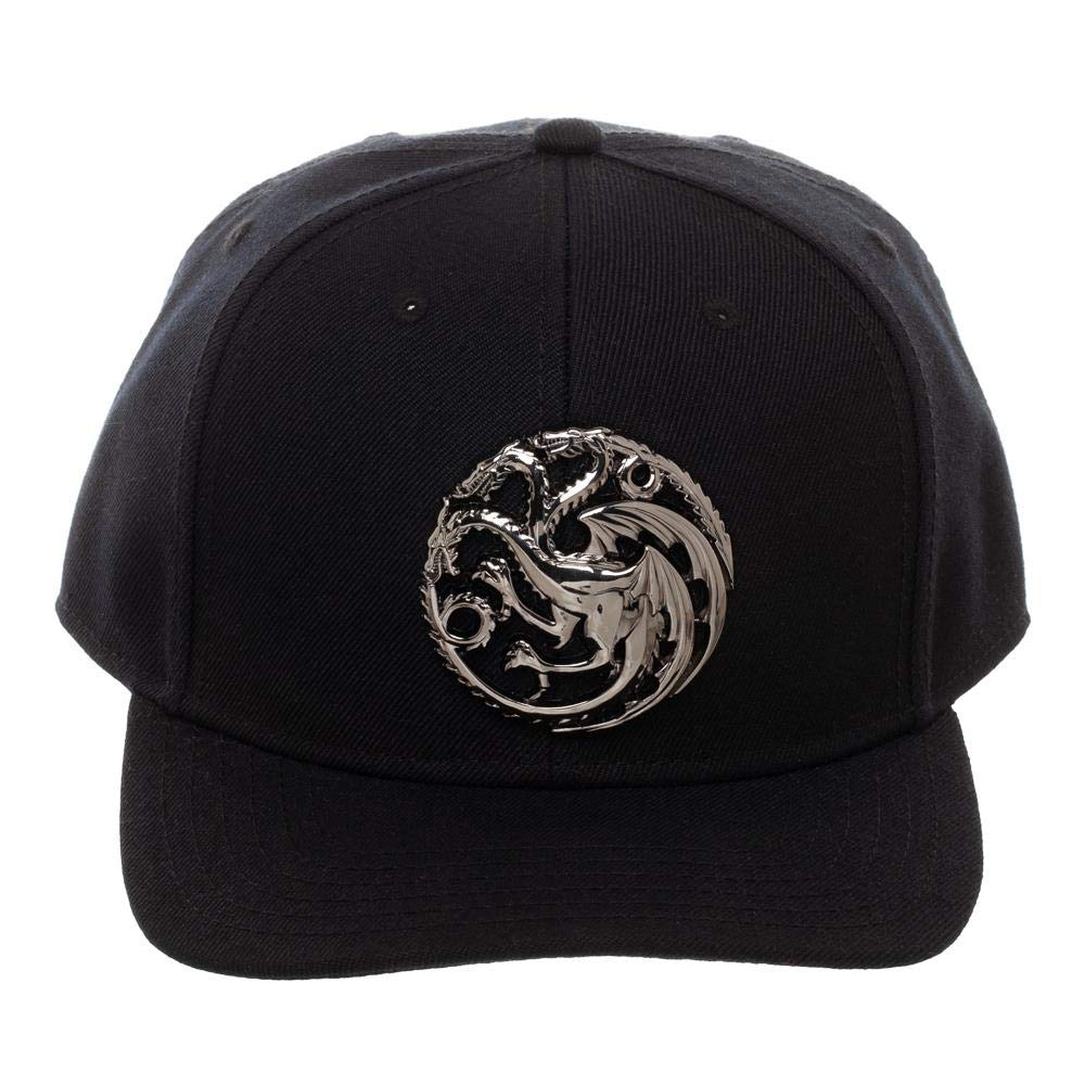 Game of Thrones - Targaryen Sculpted Metal Logo Black Snapback