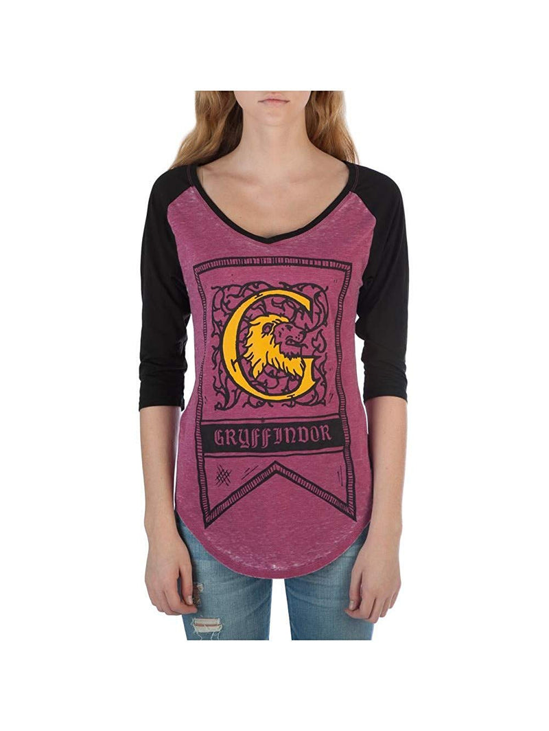 Harry Potter - JRS Maroon Raglan with Contrast Sleeves TEE Bioworld T-Shirt