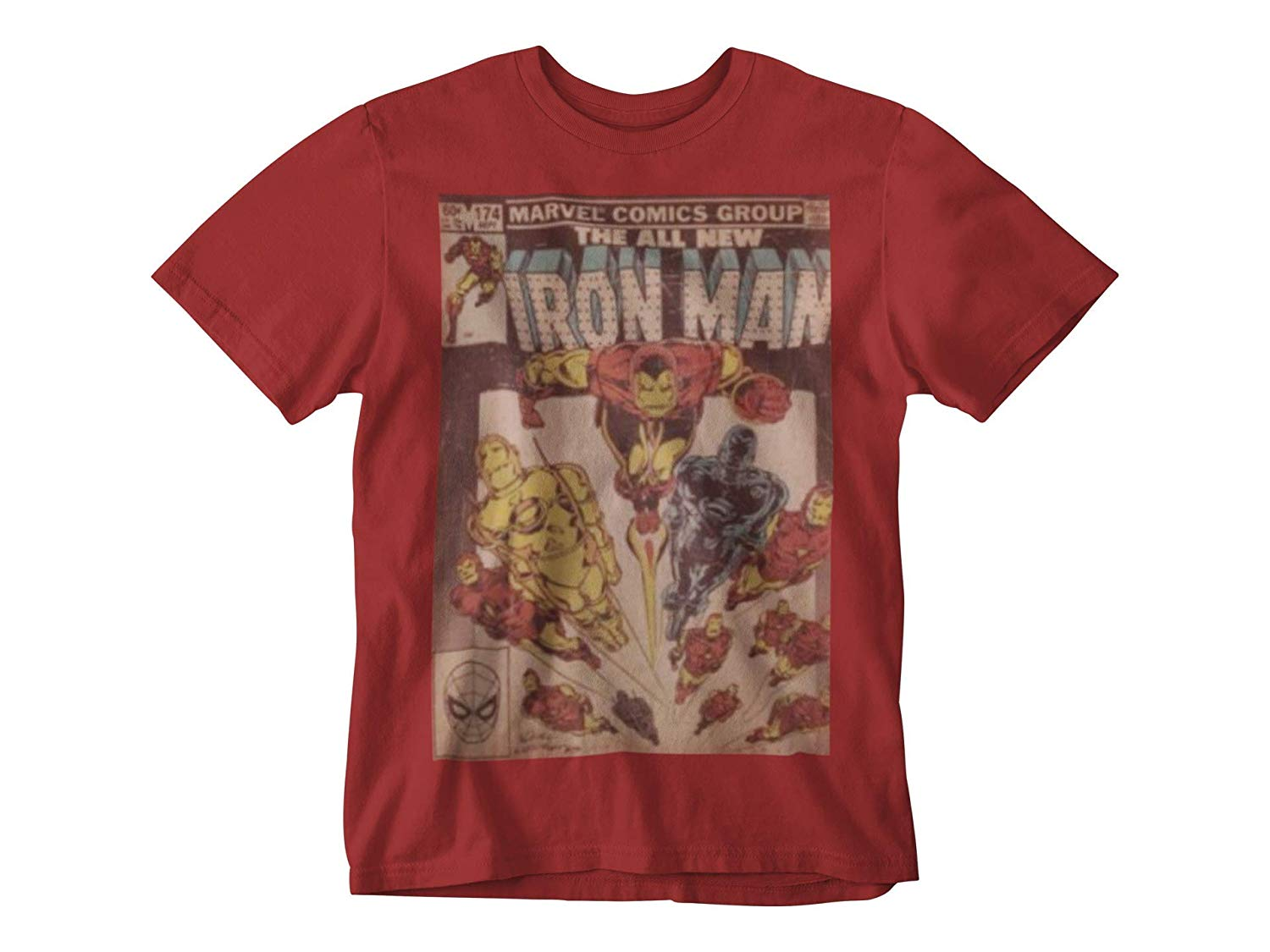 Ironman Vintage Comic Book Men's RED T-Shirt
