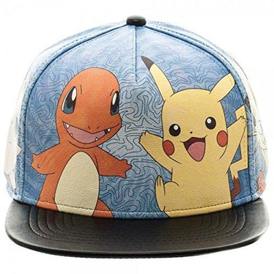 Pokemon Printed PU Snapback