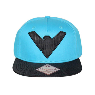 Bioworld Men's Licensed DC Comics Nightwing 3D Cut Fabric Snapback Hat