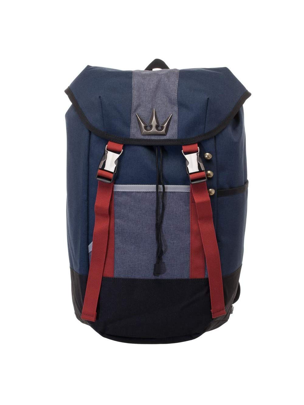 Kingdom Hearts - Navy Blue, Red, and Grey Gamer Backpack