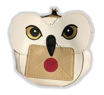 Harry Potter Hedwig Coin Pouch Snap Purse Snowy Owl PU Leather Licensed
