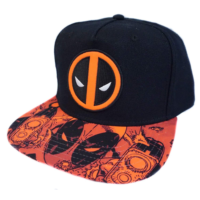 Black Deadpool Hat with Red Sublimated Bill **New**