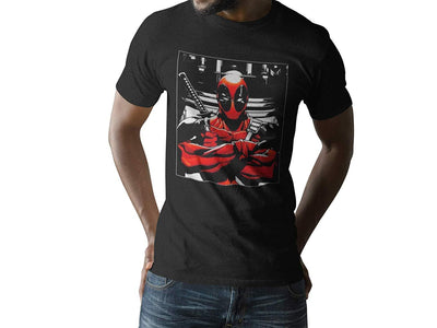 Marvel Deadpool Crossed Arms Square Graphic Tee Men's T-Shirt Bioworld