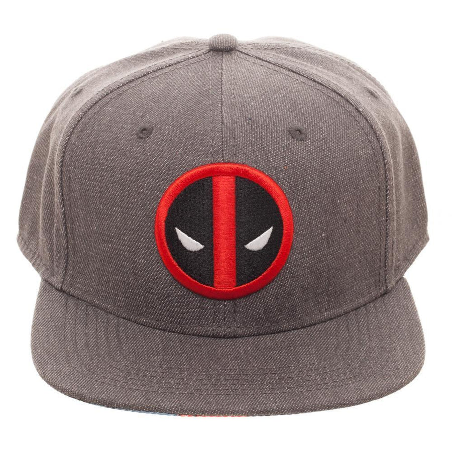 Embroidered Deadpool Logo Flatbill Flex Cap - Baseball Cap