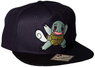 BIOWORLD Pokemon Squirtle Navy Color Block Snapback Hat Cap