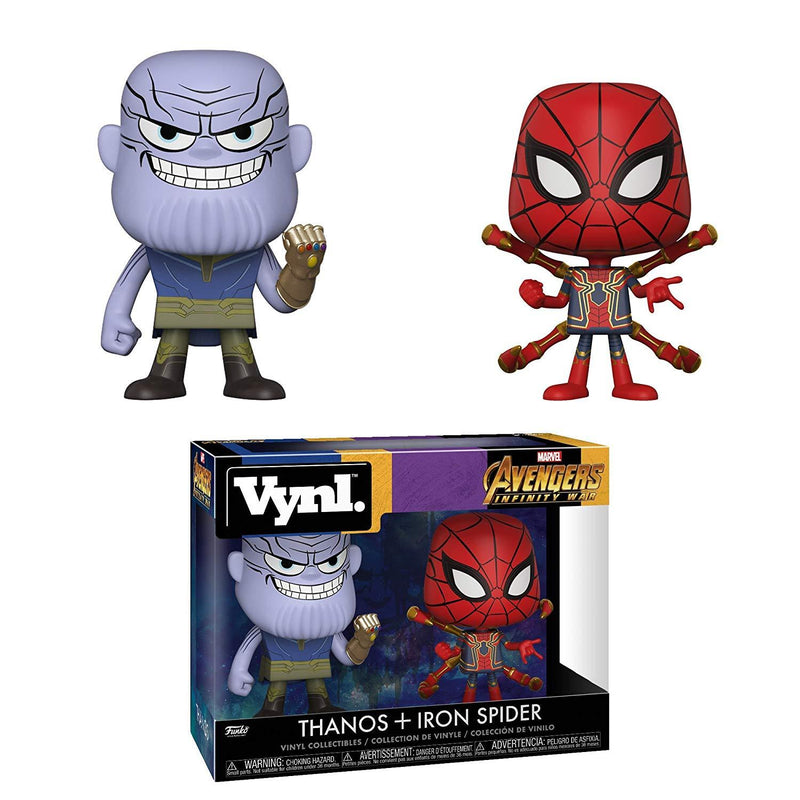 Funko Vynl Marvel: Avengers Infinity War-Thanos and Iron Spider Collectible Figure, Multicolor