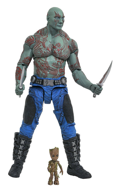 Diamond Select Toys Marvel Select Guardians of The Galaxy 2 Drax & Baby Groot Action Figure