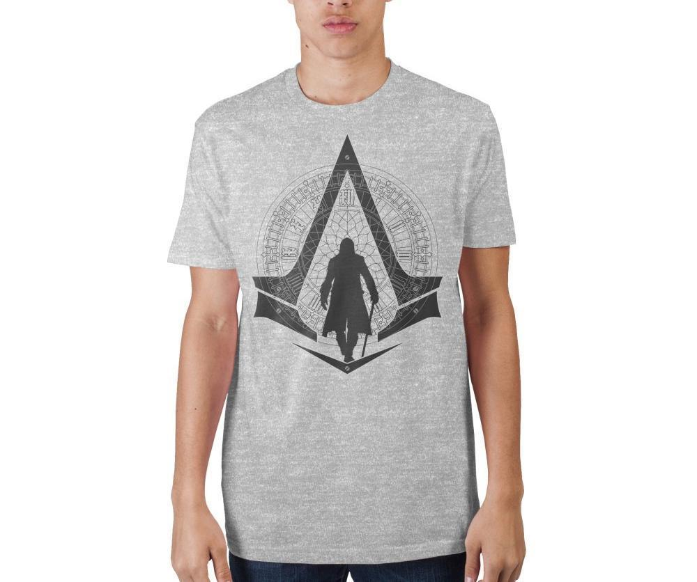 Assassin's Creed Syndicate Logo Grey Men's Tee Shirt T-Shirt