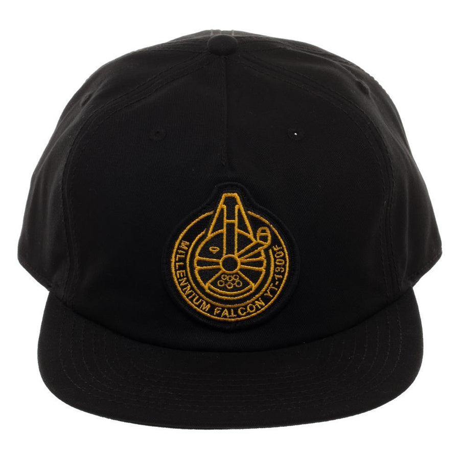 Millennium Falcon Spacecraft Official Seal Flatbill, Star Wars Hat with Embroidered Design - Dood Gear