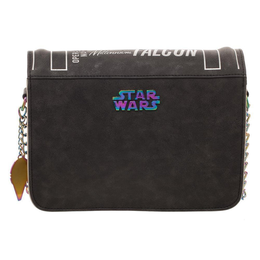 Han Solo Millenium Falcon Operations Manual Bag, Disney Star Wars Crossbody Purse