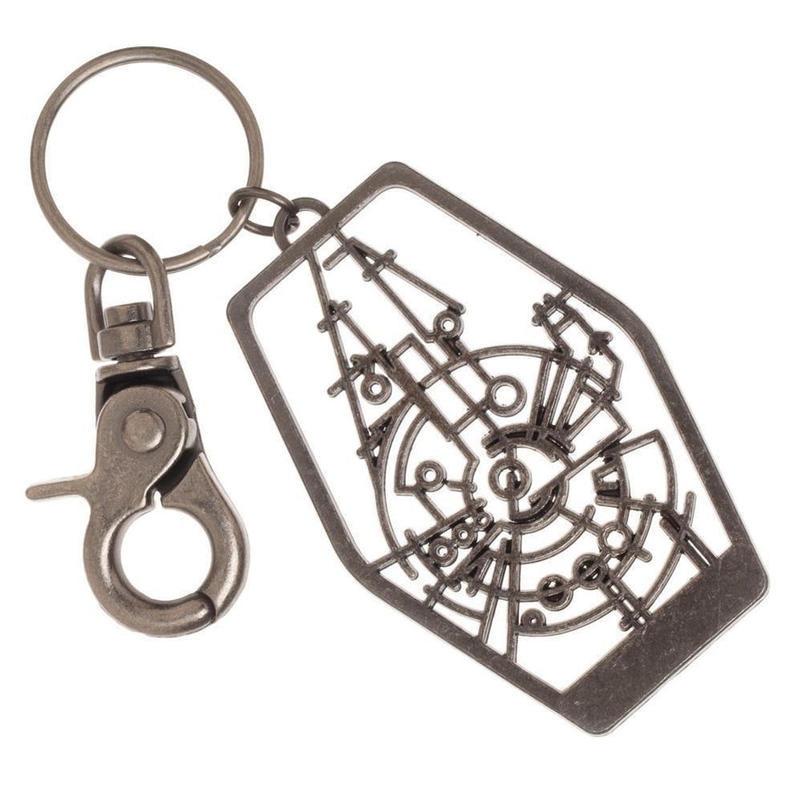 Han Solo Millenium Falcon Frame Keychain with Lobster Clasp, Cutout Outline Design, Disney - Dood Gear
