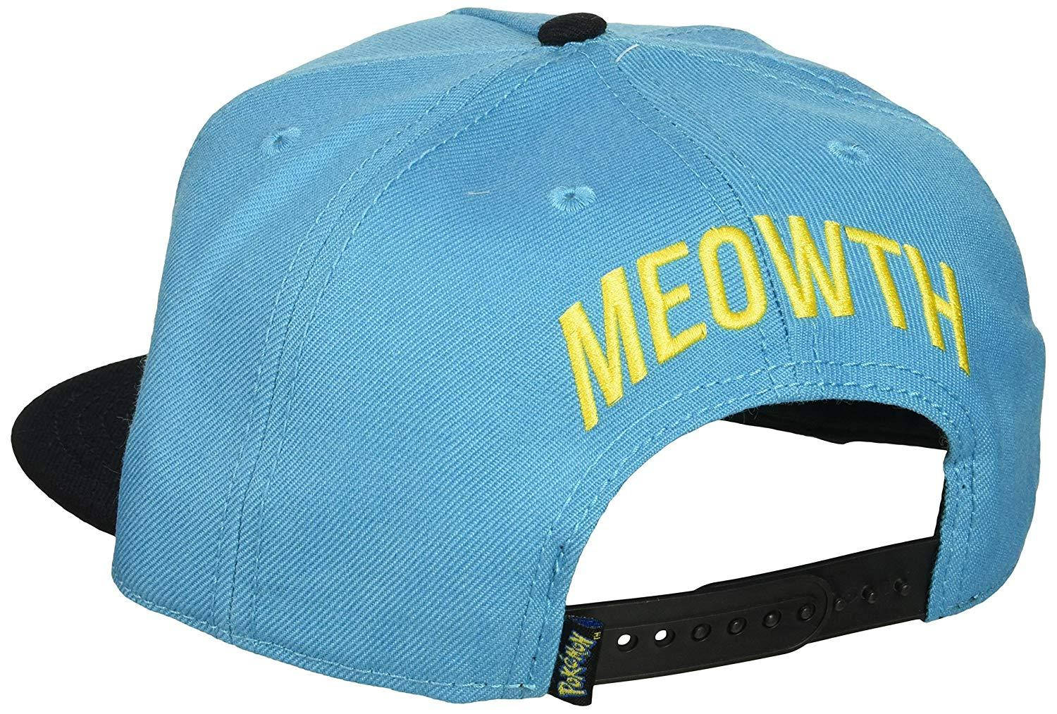 cddaf5a2b02ac0 Pokemon - Meowth Embroidered Turquoise Snapback - Dood Gear