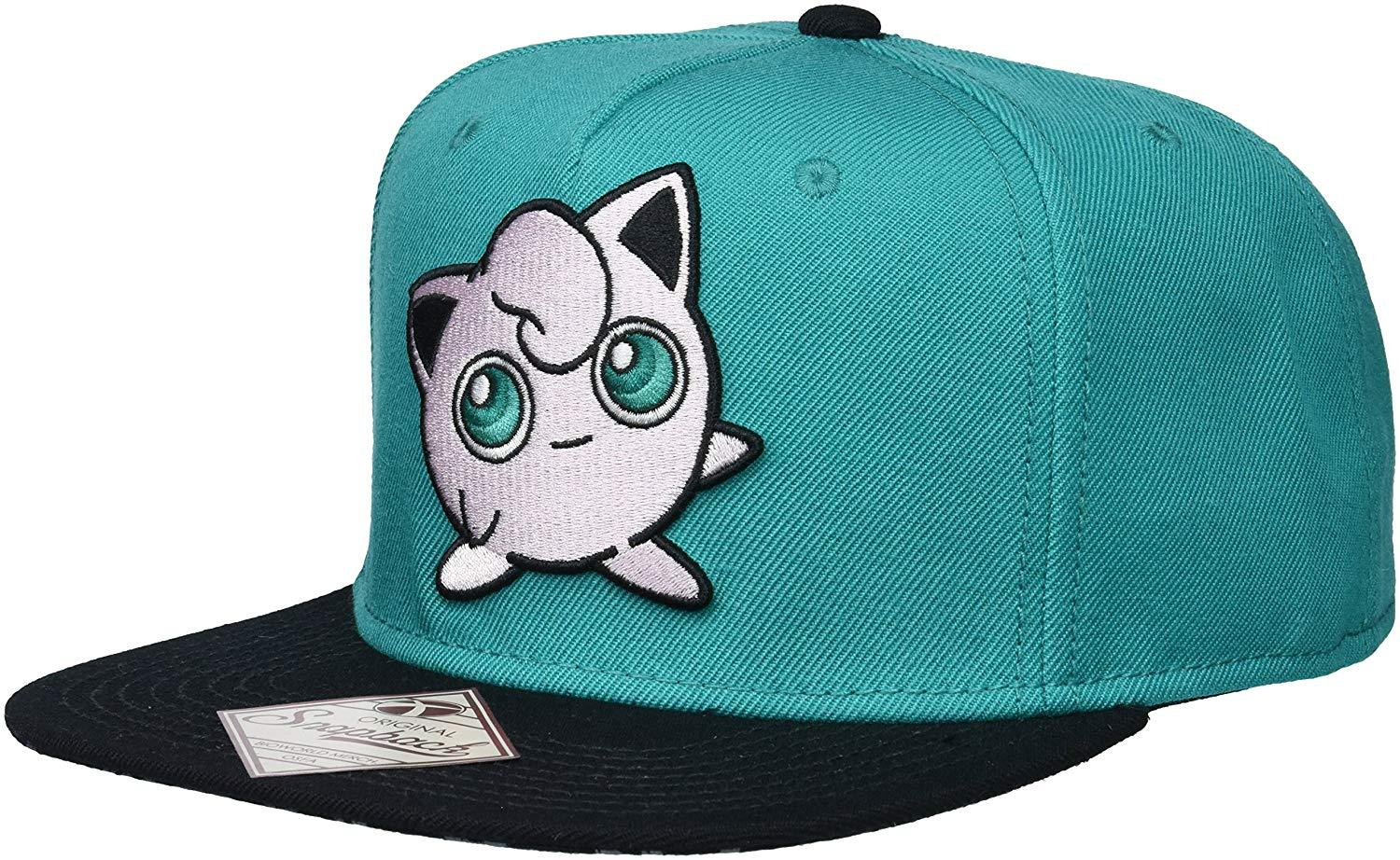 BIOWORLD Pokemon Jigglypuff Embroidered Turquoise Snapback Hat **NEW**