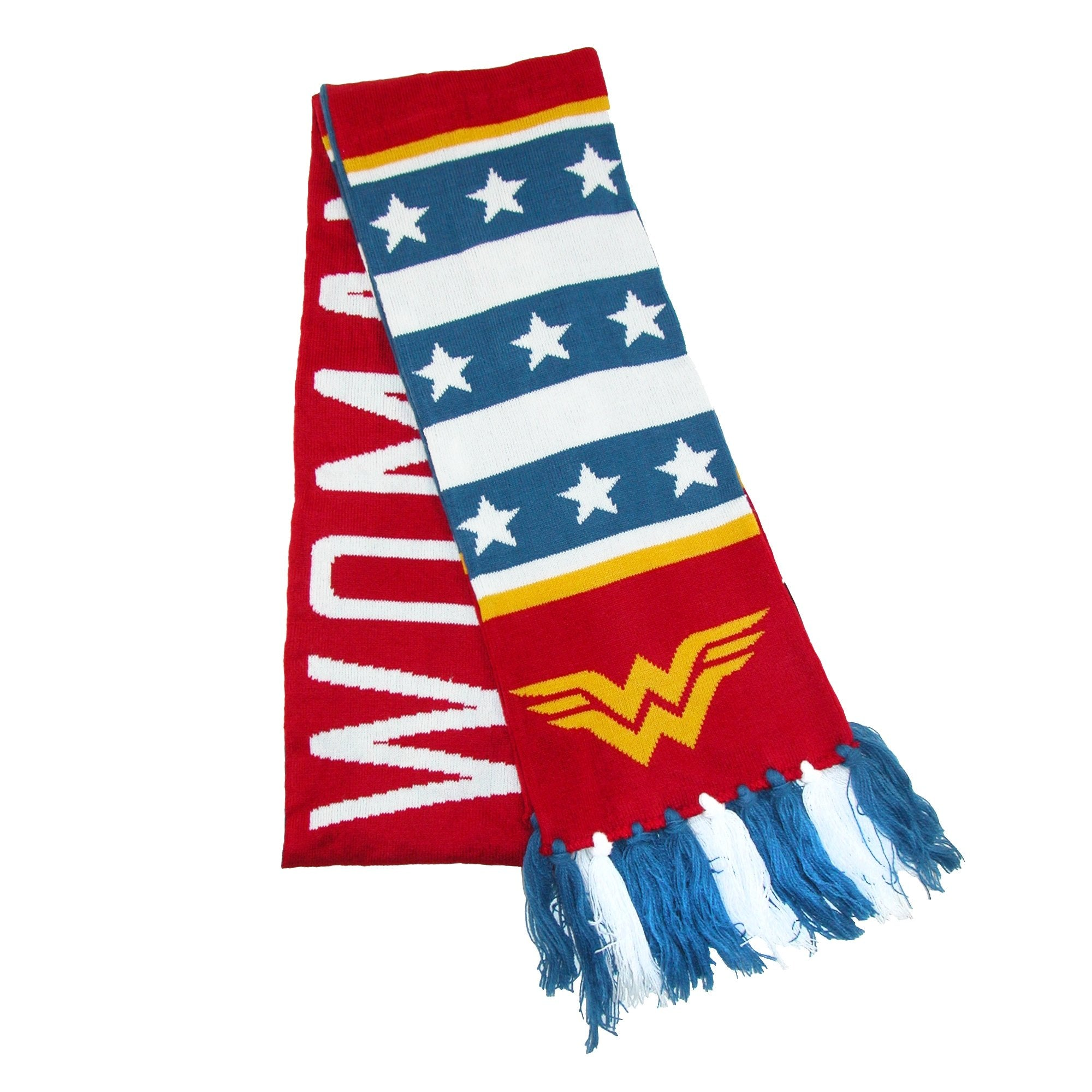 DC Comics - Wonder Woman Stars and Striped Jacquard Scarf