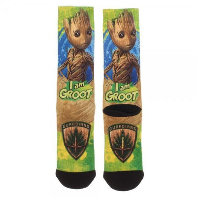 Guardians of the Galaxy Groot Sublimated Crew Socks - Dood Gear