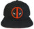 Marvel - Deadpool Insignia Black Snapback with Red Under Bill