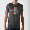 Fallout Vault Boy Charcoal Heather T-Shirt - Dood Gear