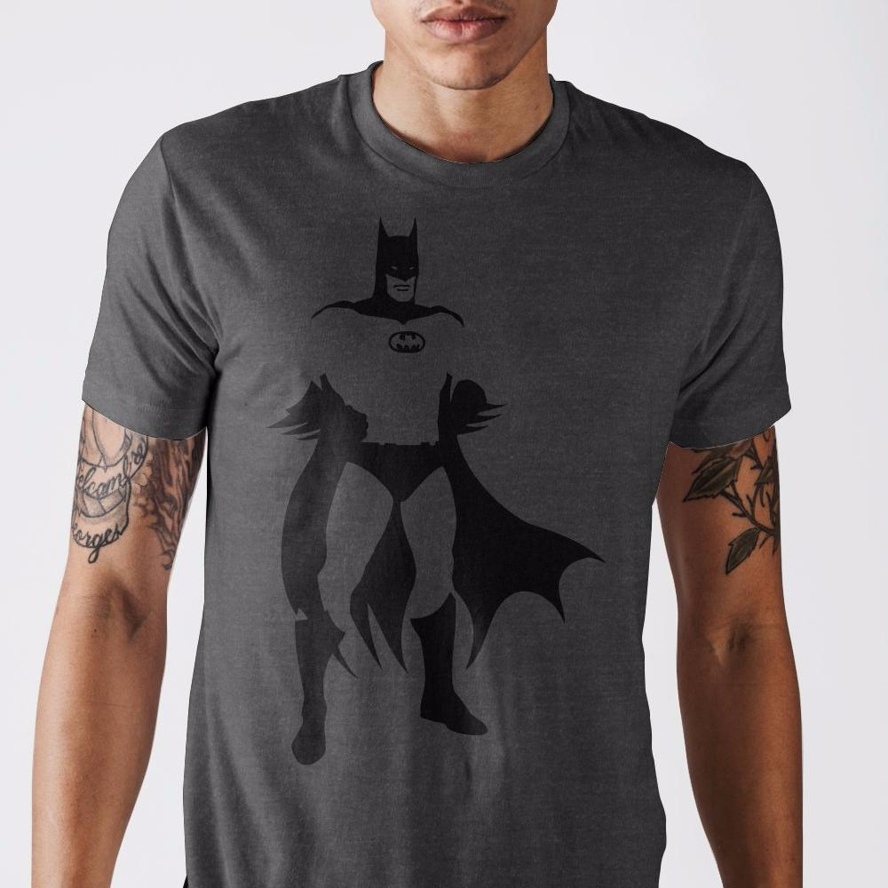 Batman Charcoal Heather T-Shirt - Dood Gear