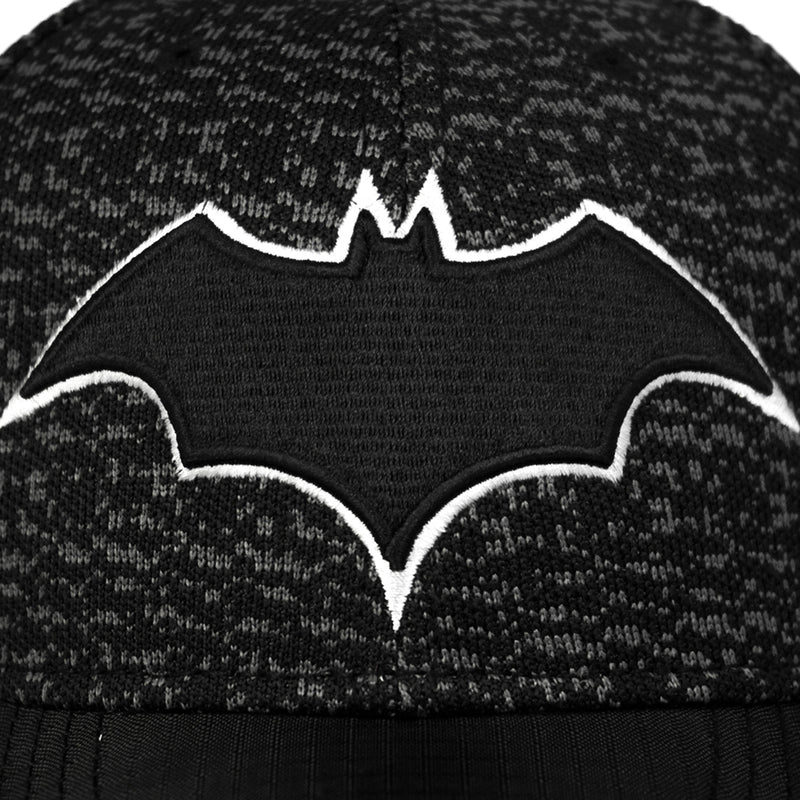 Batman Black Performance Knit 3D Logo Snapback