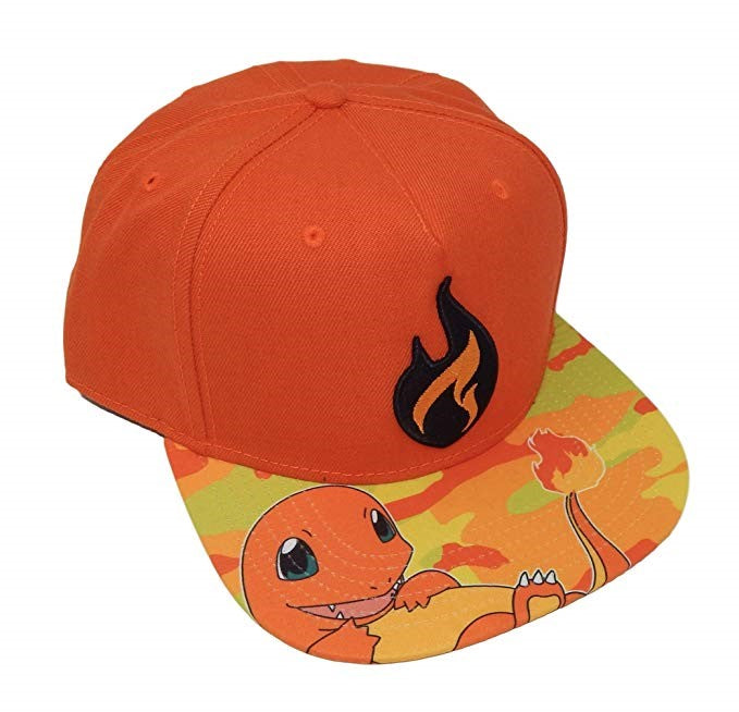 Charmander Pokemon Snapback Hat