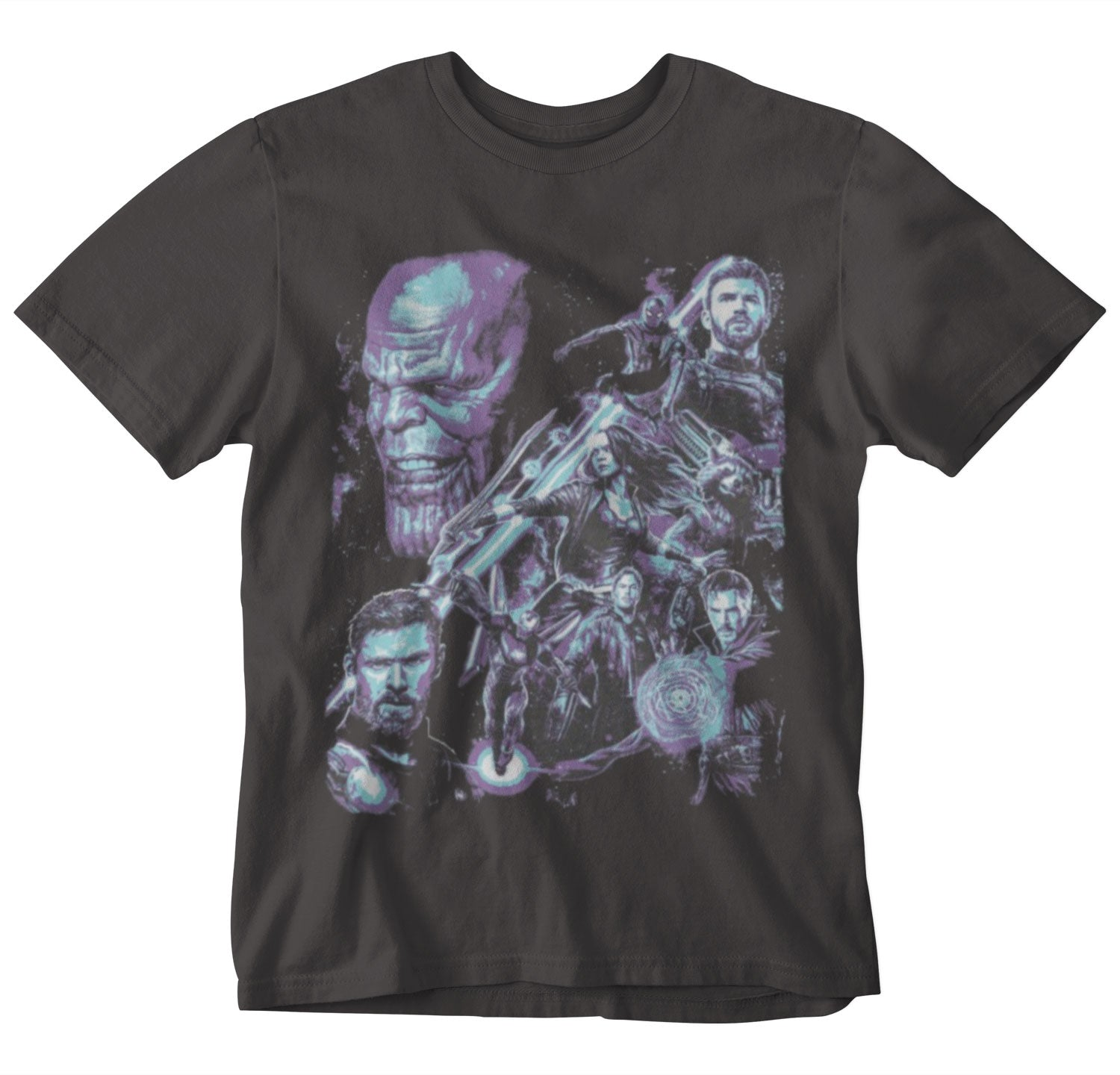 Avengers Infinity WAR - Heroes Thanos Men's Charcoal Tee