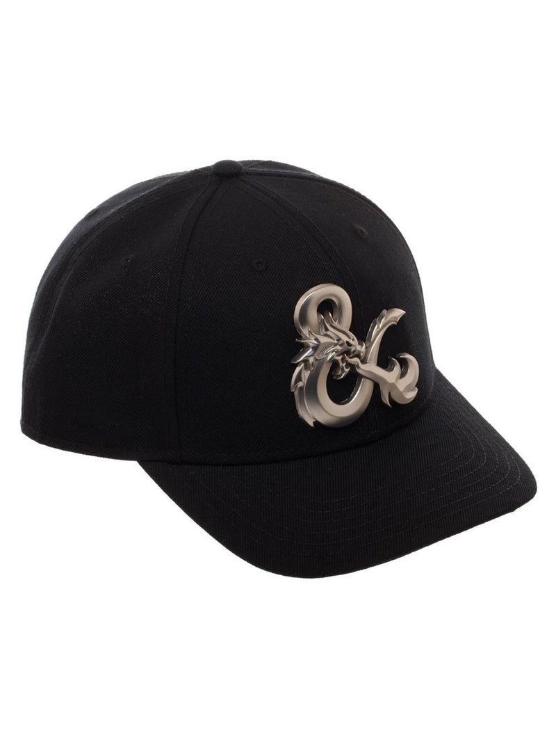 Dungeons and Dragons Ampersand Black Curved Snapback Hat