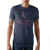 Superman Posterized Navy T-Shirt - Dood Gear