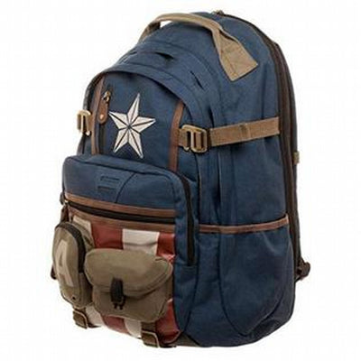 Marvel Captain America Better Built Backpack with Herringbone Accents