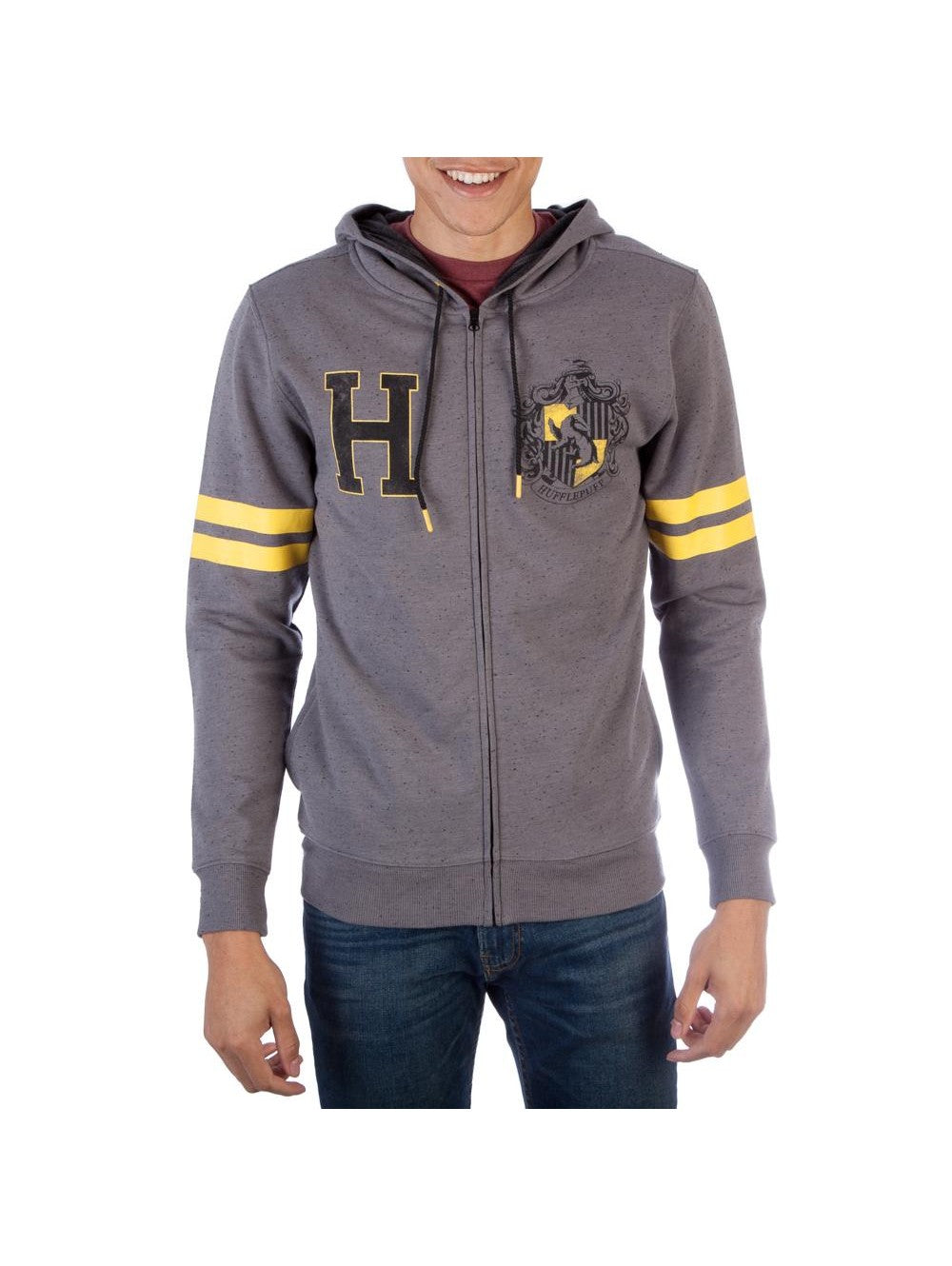 Harry Potter Hufflepuff Men's Fleece Zip Up Hoodie