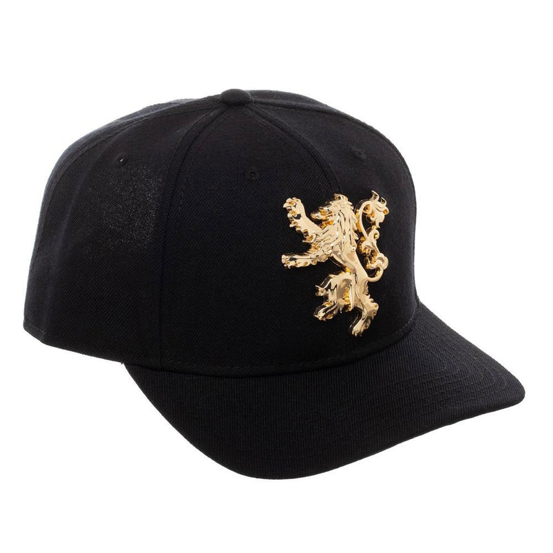 GAME OF THRONES - Lannister Sculpted Metal Black Snapback