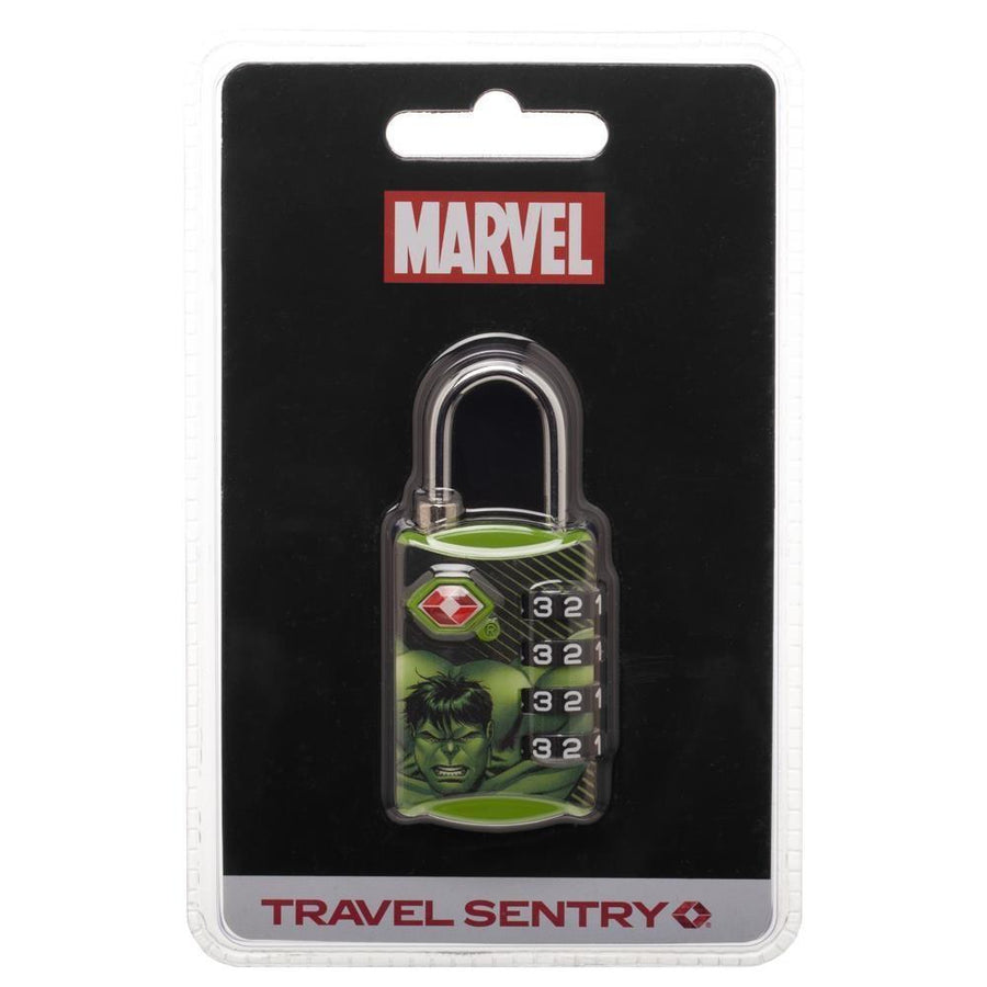 Marvel Comics Hulk Graphic Design TSA Approved Travel Combination Luggage Lock for Suitcase Baggage - Dood Gear