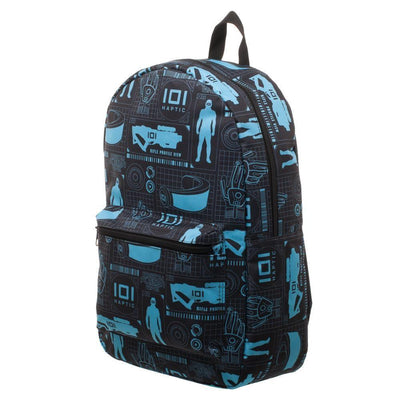 Innovative Online Industries Pattern Backpack, Sublimated Backpack with Gaming Grid Design, MMORPG Virtual Reality - Dood Gear