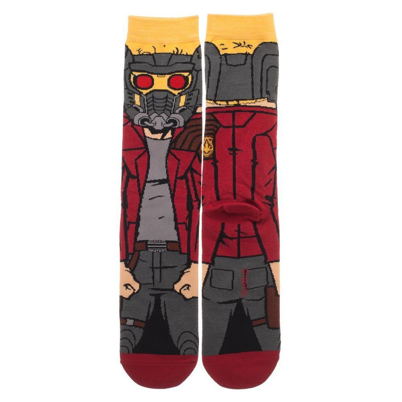 Guardians of the Galaxy Star-Lord 360 Character Collection Crew Socks
