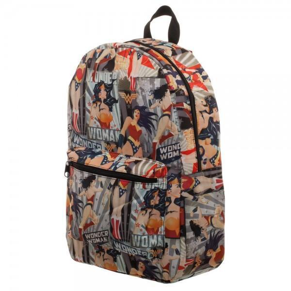 DC Comics Wonder Woman All Over Print Backpack - Dood Gear