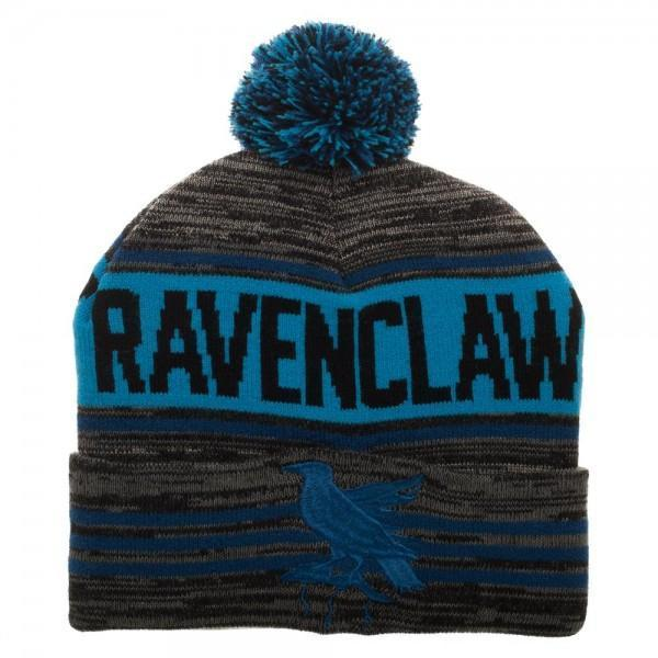 Harry Potter Black Blue Rolled Beanie - Dood Gear