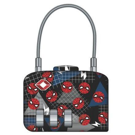 Marvel Comics Spider-Man Logo TSA Approved Travel Combination Cable Luggage Lock for Suitcase Baggage