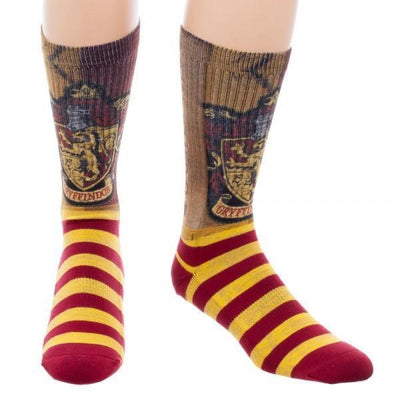 Harry Potter Gryffindor Sublimated Crew Socks - Dood Gear