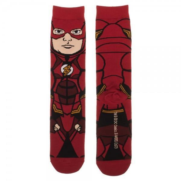 Justice League Flash 360 Character Crew Socks - Dood Gear