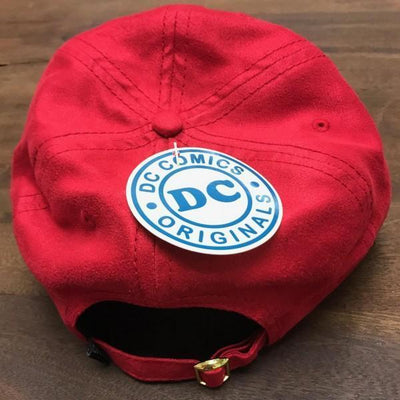 The Flash Leather Label Suede Dad Hat - Dood Gear