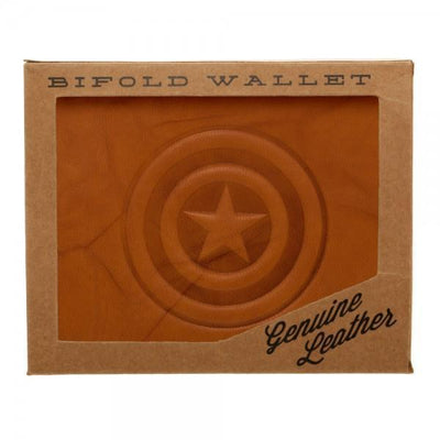 Marvel Captain America Leather Bi-Fold Wallet - Dood Gear