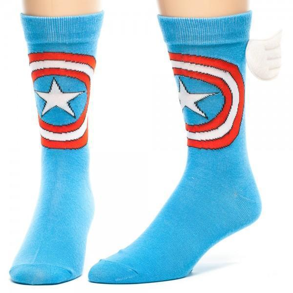 Marvel Captain America Crew Socks with Wings - Dood Gear