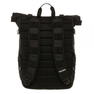 Call of Duty Black Military Roll Top Backpack with Laser Cuts - Dood Gear