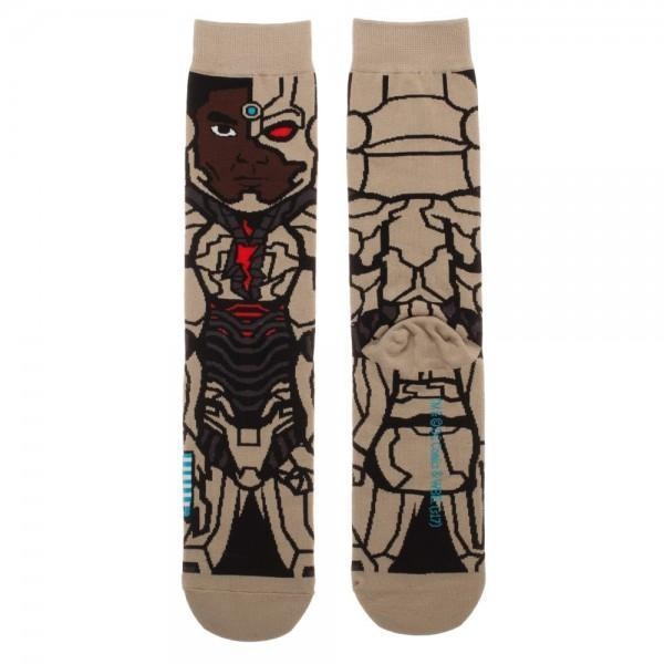 Justice League Cyborg 360 Character Crew Sock - Dood Gear