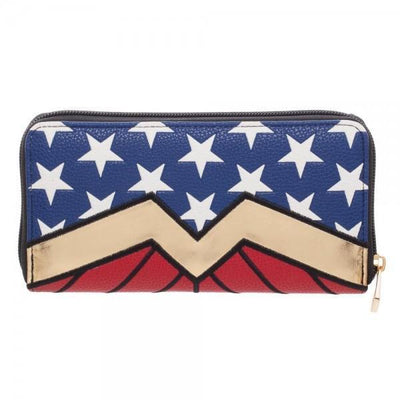 DC Comics Wonder Woman Zip Around Wallet - Dood Gear