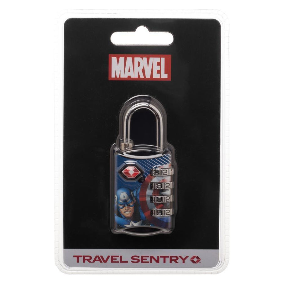Marvel Comics Captain America Graphic Design TSA Approved Travel Combination Luggage Lock for Suitcase Baggage - Dood Gear