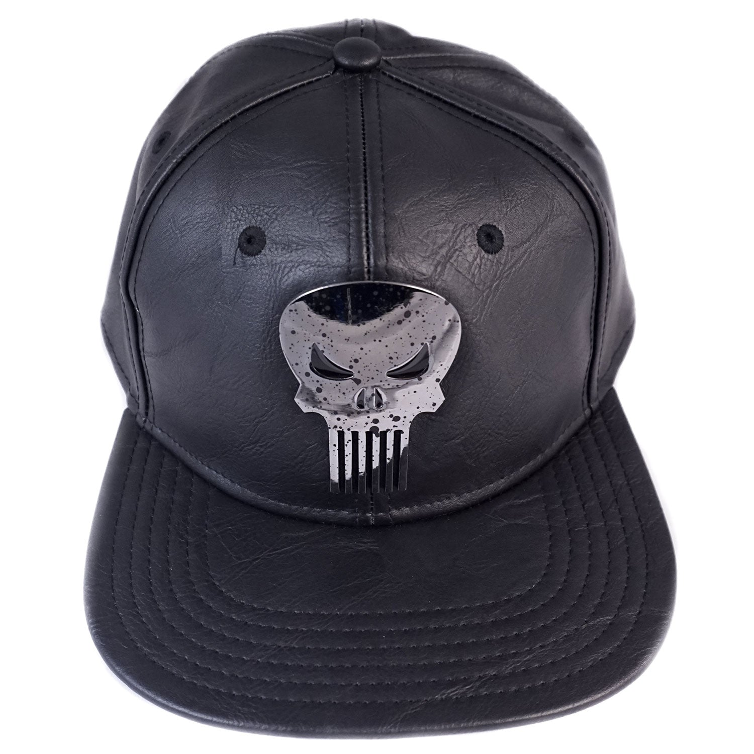 MARVEL - Punisher Suit Up Faux Leather Black Snapback